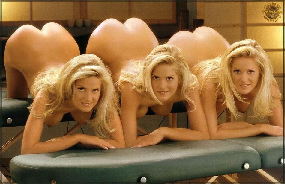 nude playboy Triplets girls