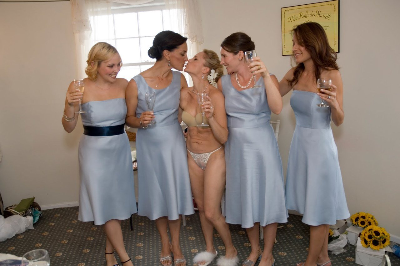 Brides getting dressed nude picture