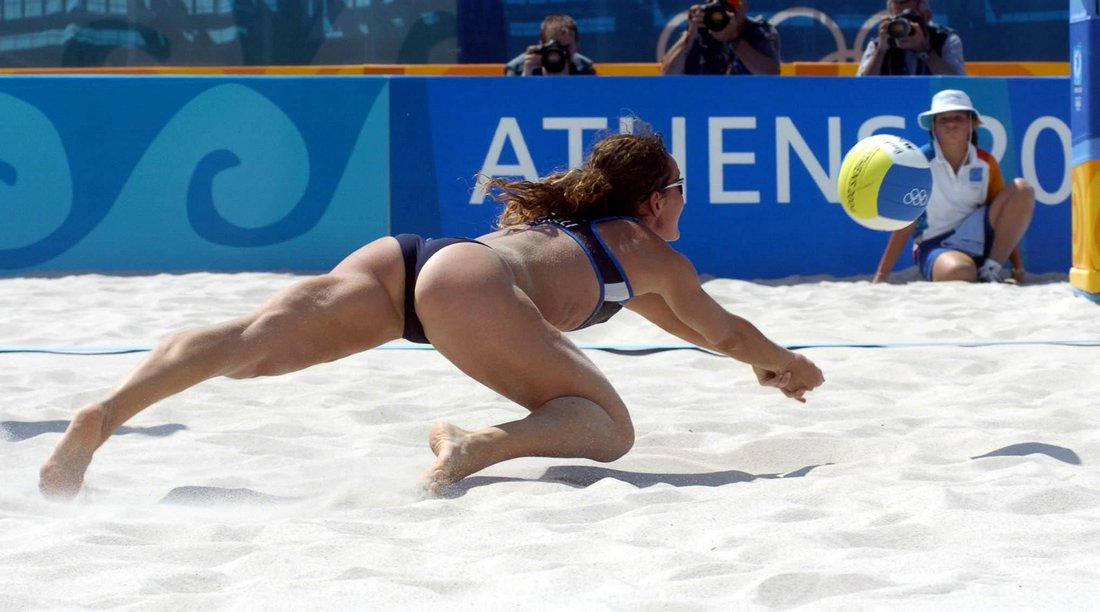 Oops nude volleyball women beach