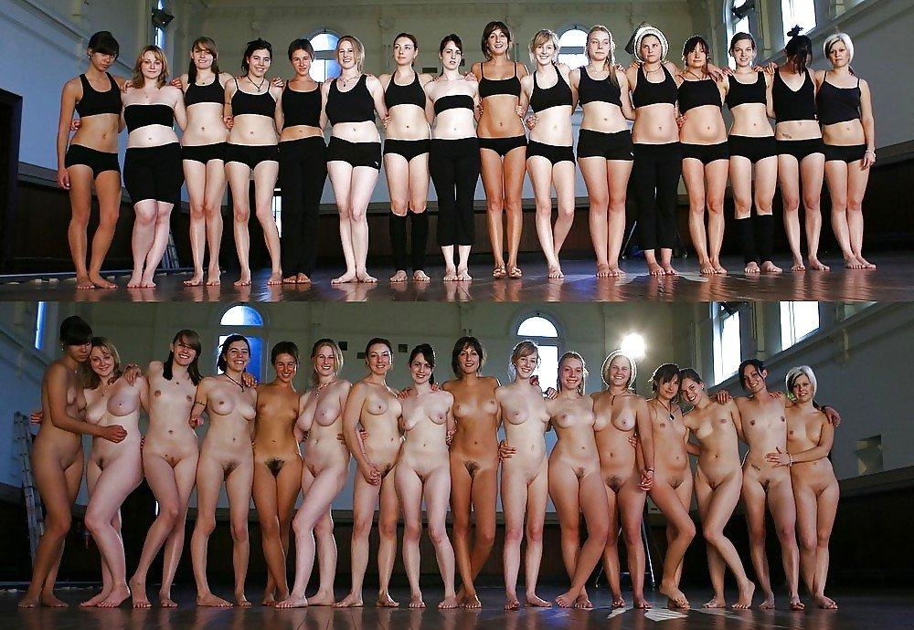 Line undressed Women up dressed