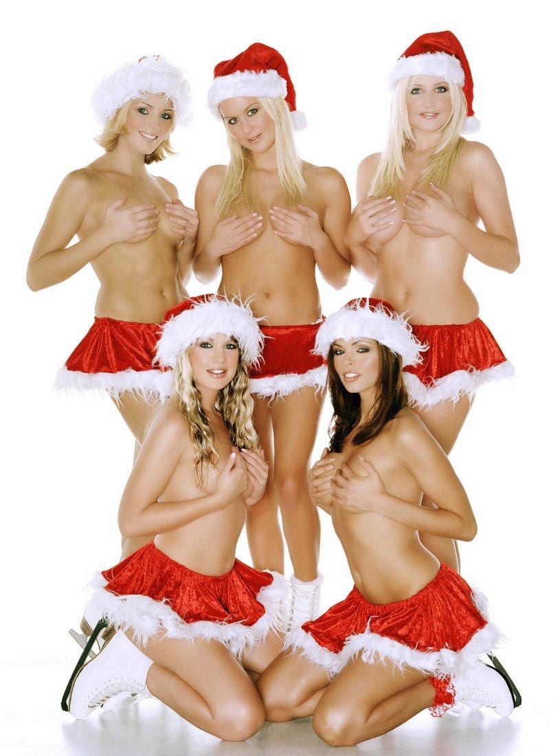 Сексуальные девушки в сексуальных новогодних костюмах 3 фотография